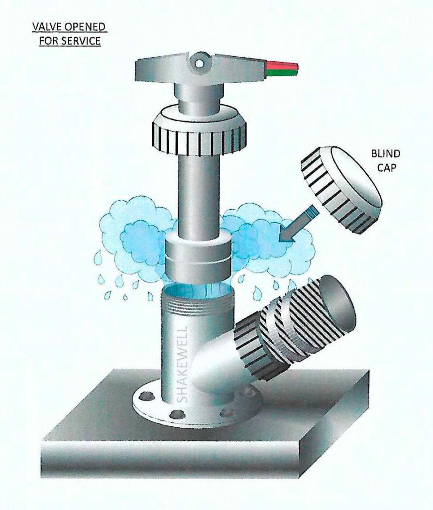 Non metal seacock valve